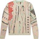 KAPITAL - Cotton-Jacquard Sweater - Pink