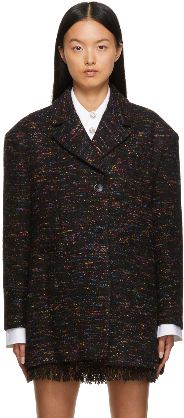 Photo: GANNI Multicolor Recycled Wool Blazer