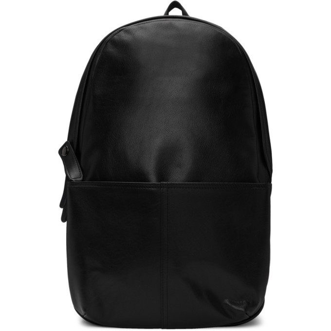 Photo: Yohji Yamamoto Black Leather Day Backpack