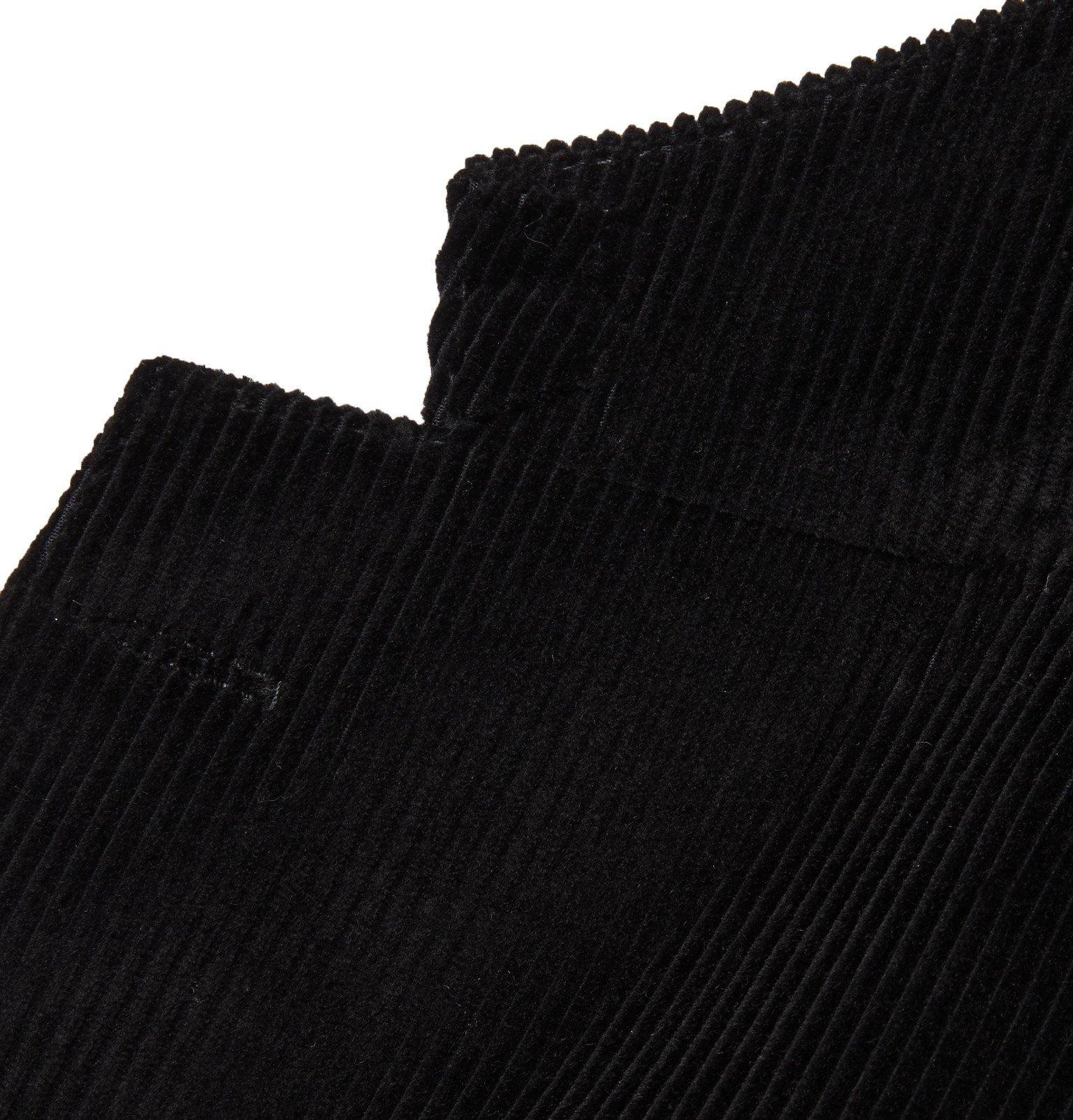 Tod's - Black Cotton-Velvet Suit Jacket - Black