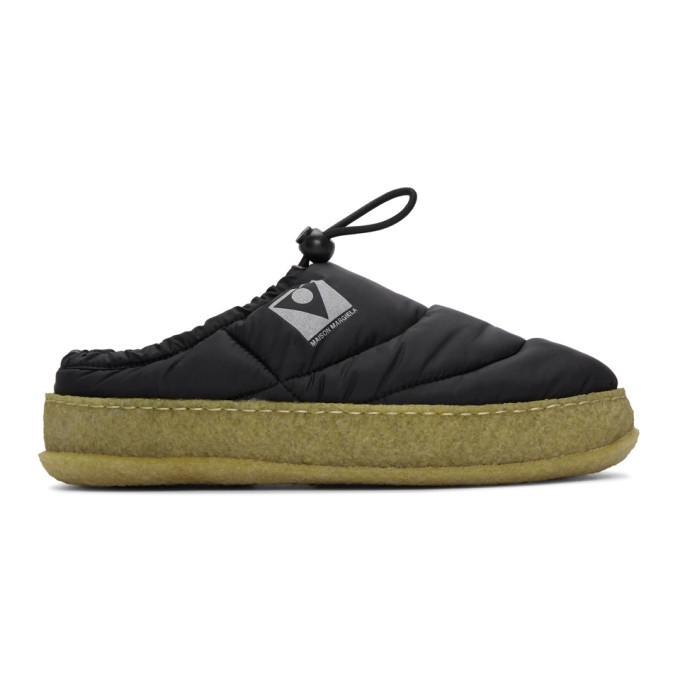 Photo: Maison Margiela Black Quilted Slip-On Loafers