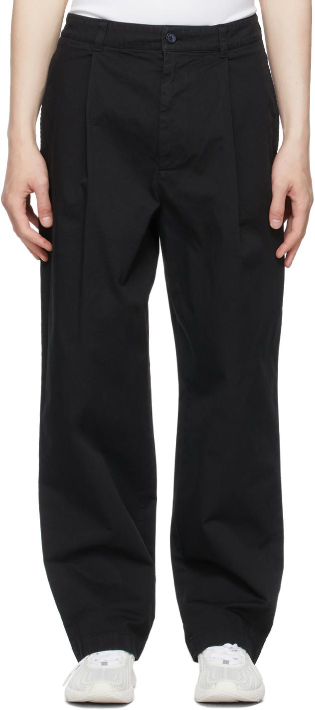 Photo: Acne Studios Black Wide-Leg Trousers