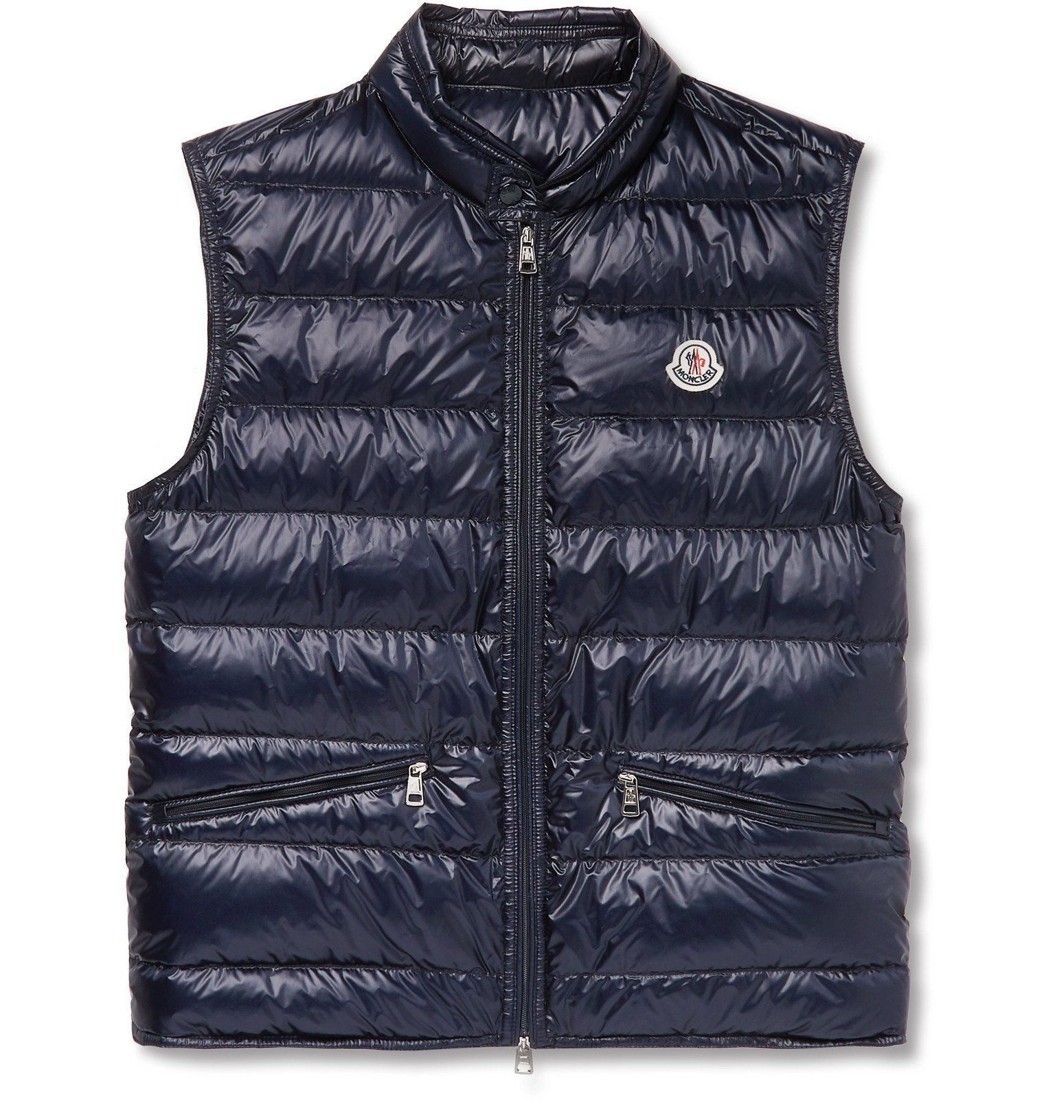 Photo: Moncler - Slim-Fit Quilted Shell Down Gilet - Blue