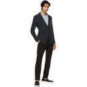 Giorgio Armani Black Virgin Wool Drawstring Trousers