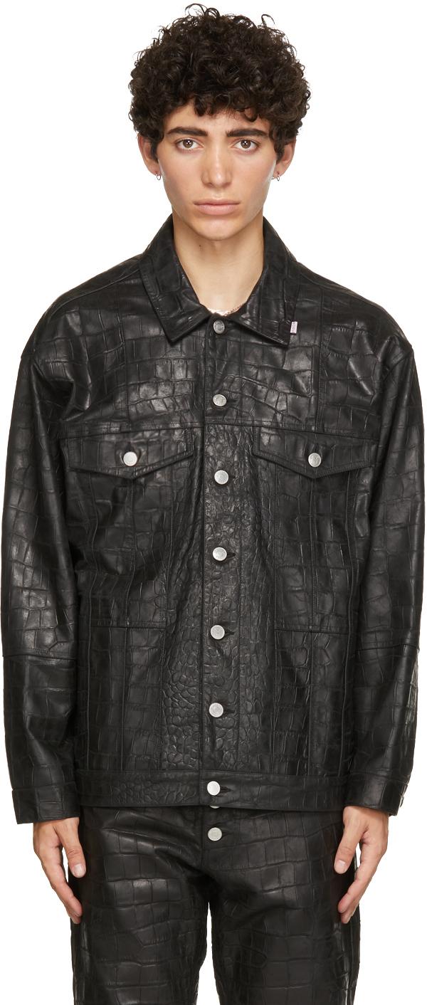 Photo: Martine Rose Black Croc Oversized Jacket