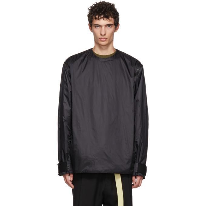 Photo: OAMC Black Transmission Zip-Off Sleeve Sweatshirt
