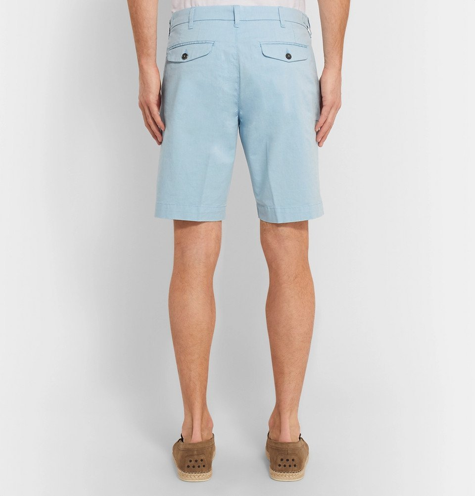 Tod's - Solaro Cotton-Blend Shorts - Blue