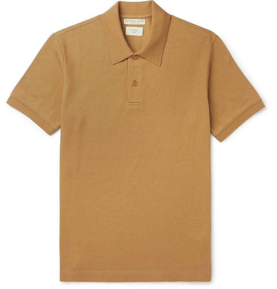 Photo: Bottega Veneta - Cotton-Piqué Polo Shirt - Tan