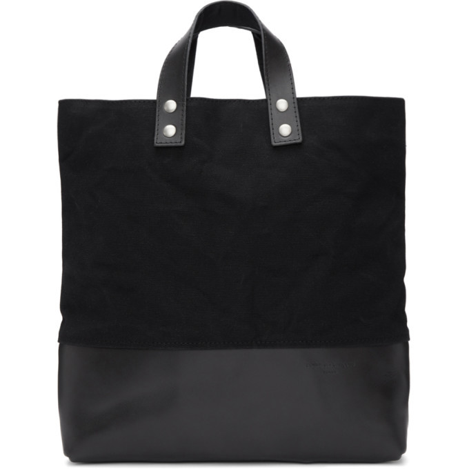 Photo: Comme des Garcons Homme Black Canvas and Leather Tote