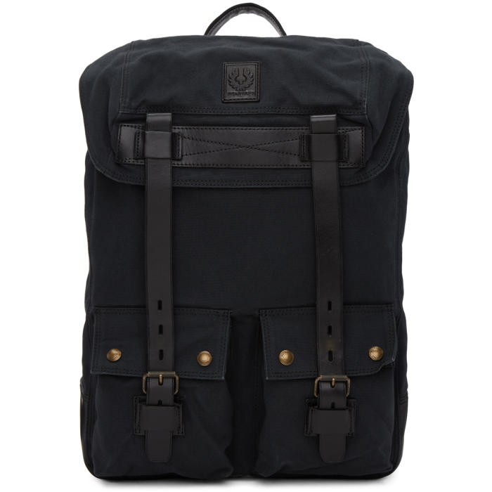 Photo: Belstaff Black Colonial Backpack