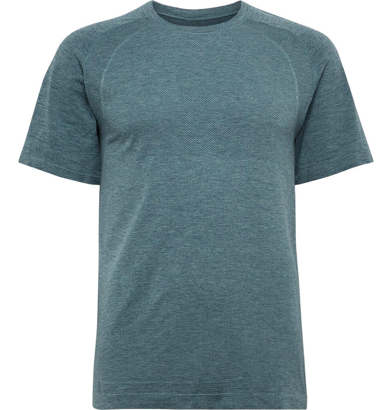 Photo: Lululemon - Metal Vent Tech 2.0 Mélange Stretch-Jersey T-Shirt - Blue