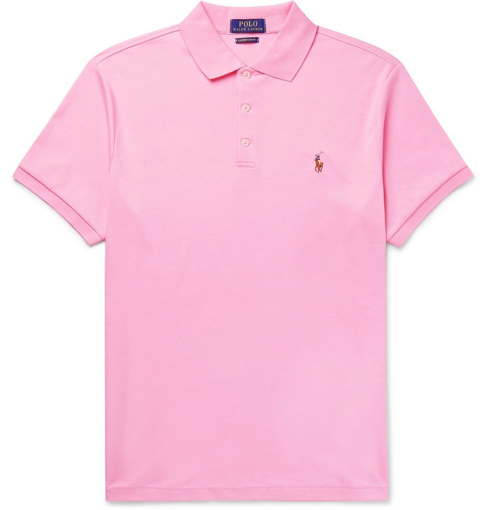 Photo: Polo Ralph Lauren - Slim-Fit Pima Cotton-Jersey Polo Shirt - Pink