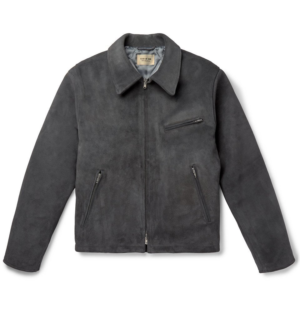 Photo: Fear of God - Slim-Fit Suede Jacket - Charcoal