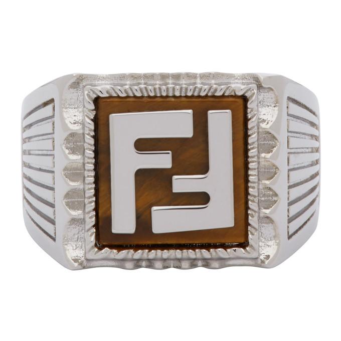 Photo: Fendi Silver Forever Fendi Signet Ring