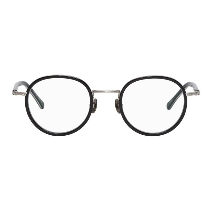 Photo: Matsuda Black and Silver M3057 Brushed Glasses