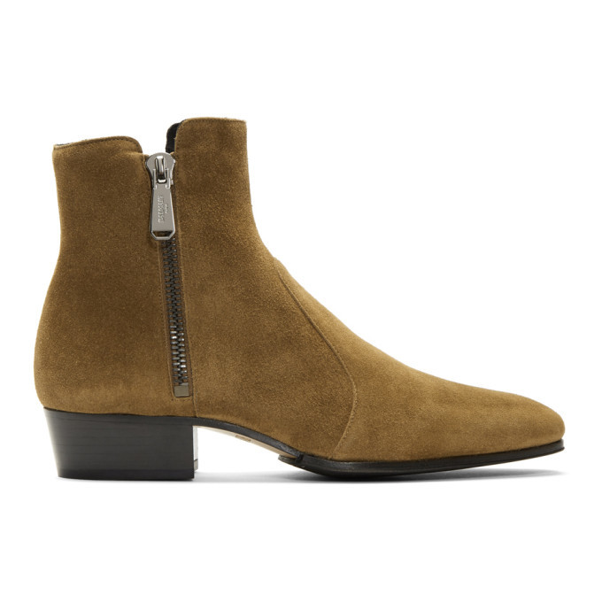Photo: Balmain Brown Suede Anthos Boots
