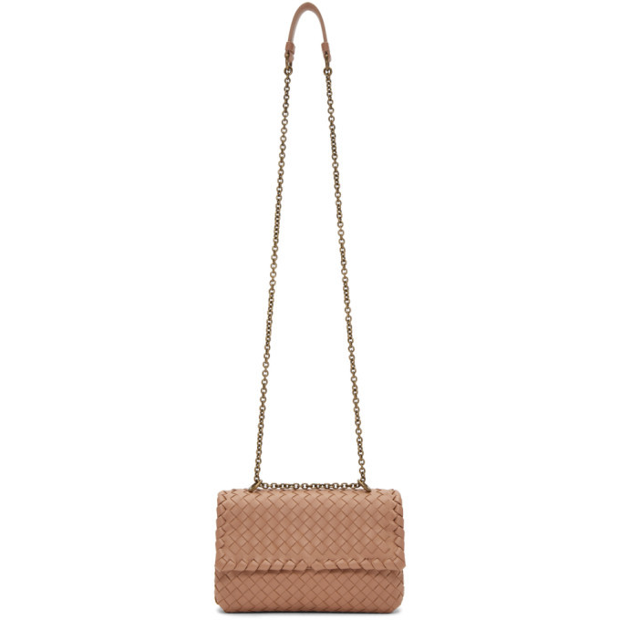 Bottega Veneta Tan Small Intrecciato Olimpia Bag