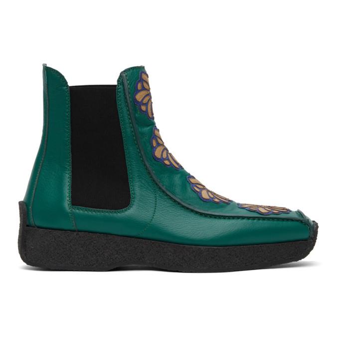 Photo: Kiko Kostadinov Green Freydal Chelsea Boots