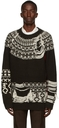 Yuki Hashimoto Brown & White Inside-Out Sweater