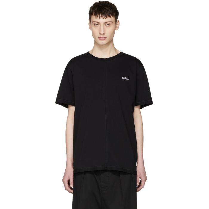 Photo: Yang Li SSENSE Exclusive Black Overlock Logo T-Shirt