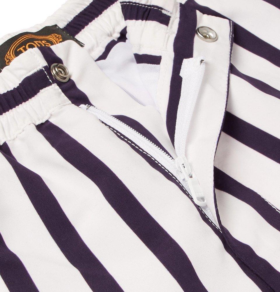Tod's - Short-Length Striped Swim Shorts - Men - Navy