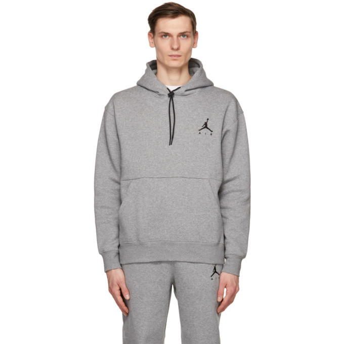 Photo: Nike Jordan Grey Fleece Jumpman Air Hoodie