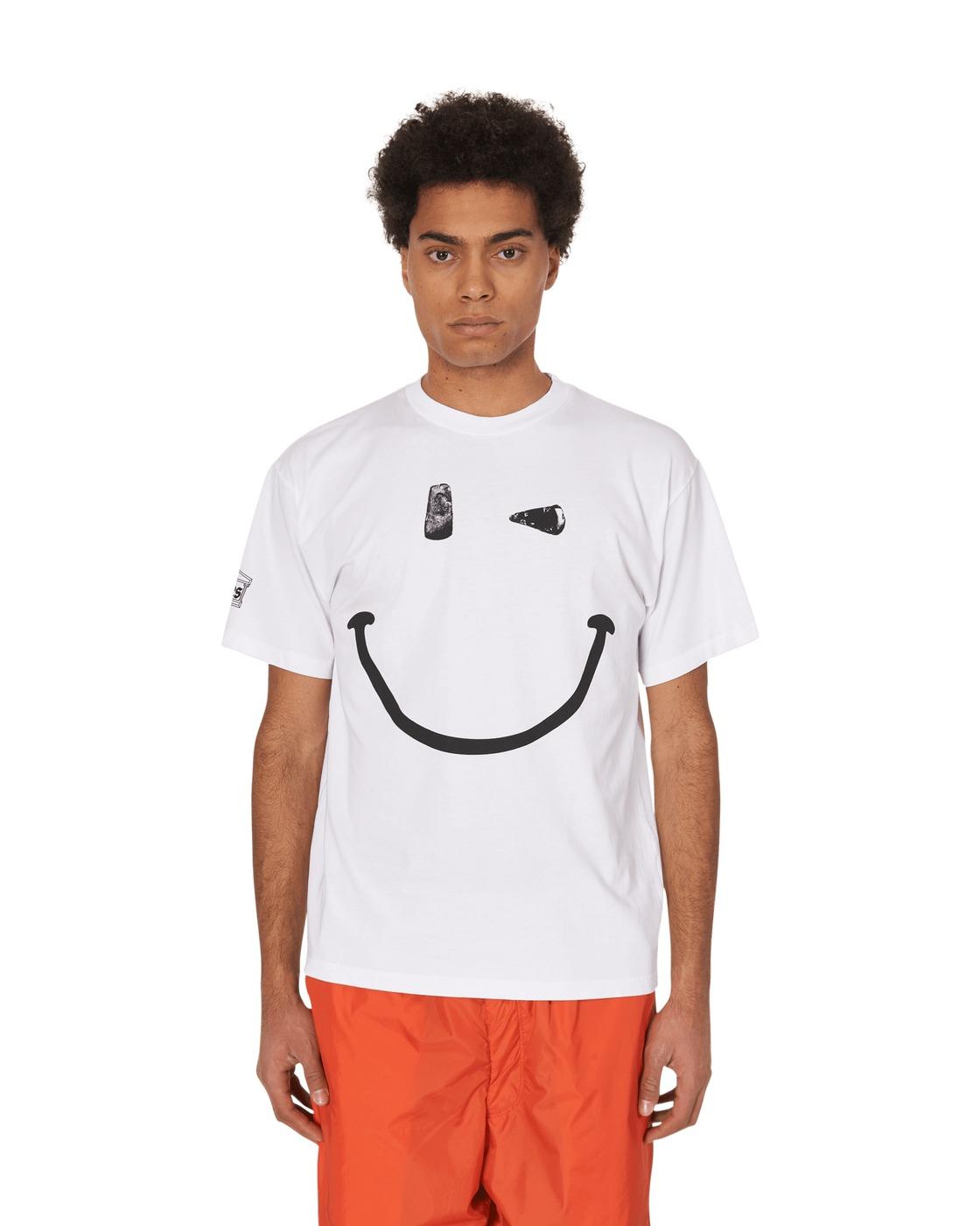 Aries Stonehenge Smiley T Shirt White