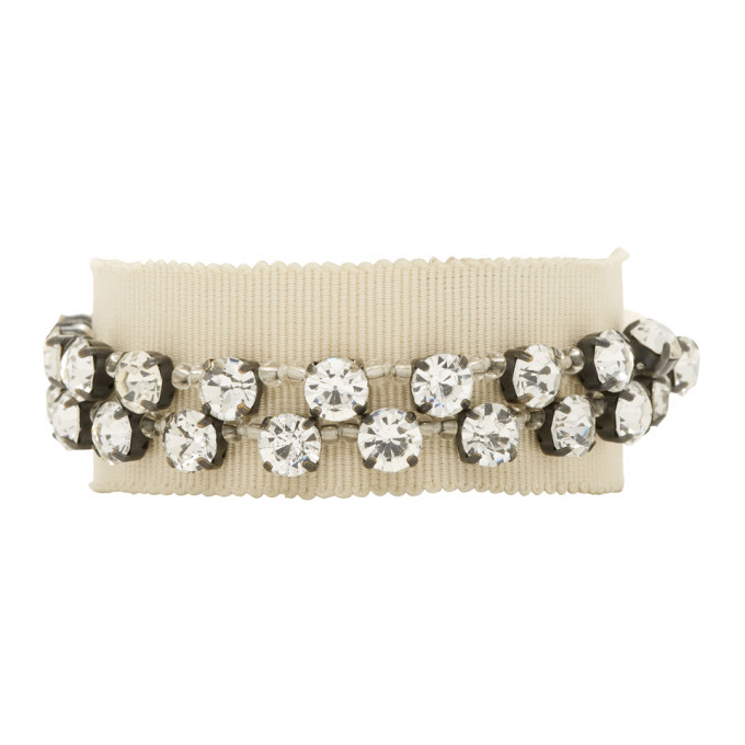Photo: Ann Demeulemeester Beige Stone Glass and Beads Bracelet