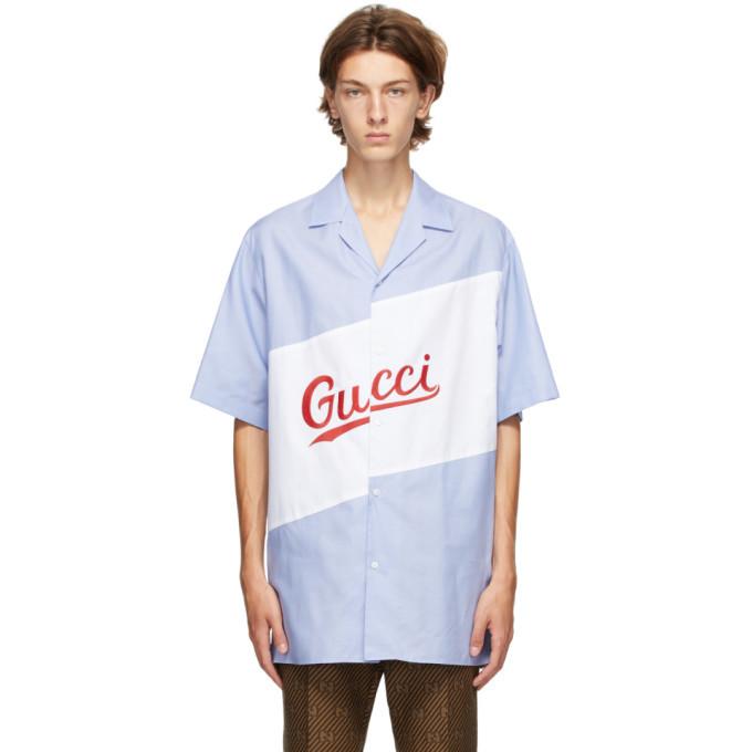 Photo: Gucci Blue Oversized Bowling Shirt