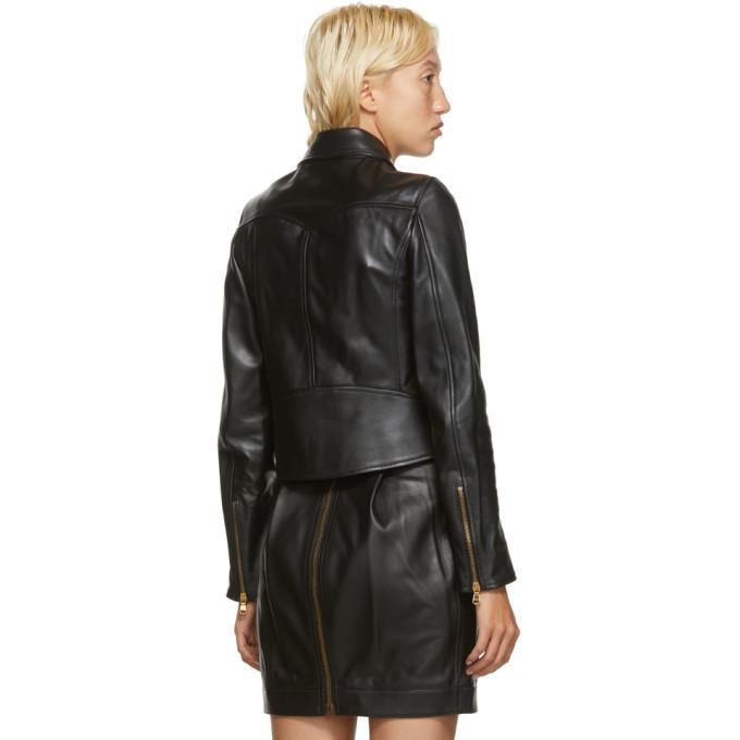Versace Black Leather Medusa Jacket