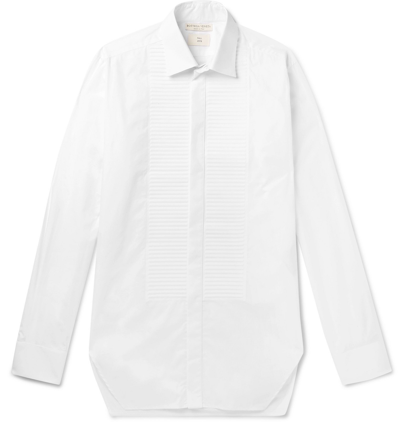 Photo: Bottega Veneta - White Bib-Front Cotton-Poplin Shirt - White