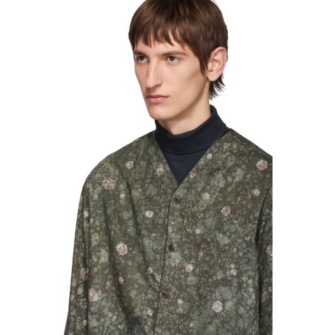 Lemaire Green Sunspel Edition V-Neck Shirt