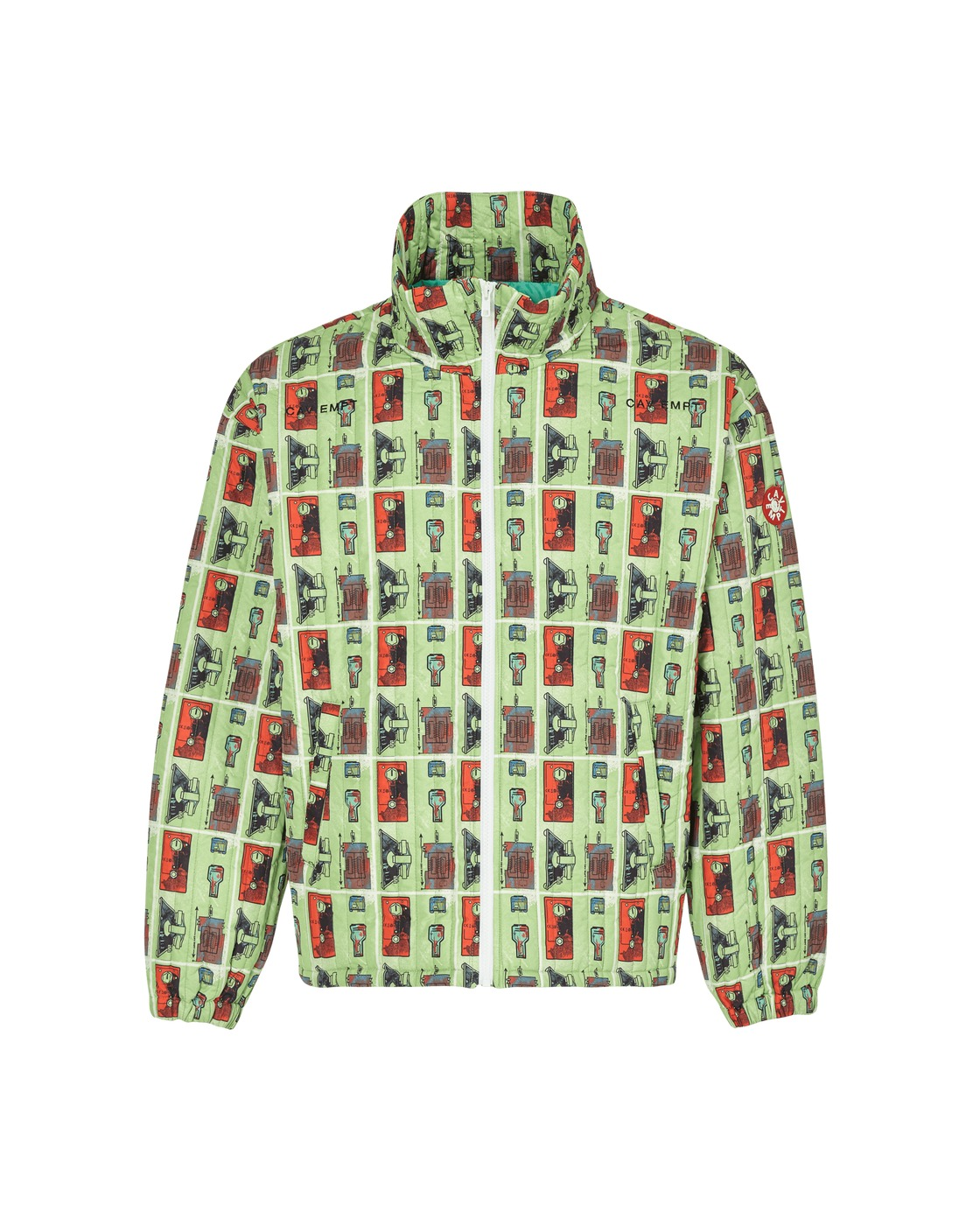 Photo: Cav Empt Source Output Quilted Zip Jacket Green