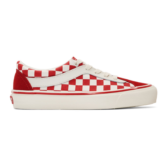 ac79565ce7c0 Vans Red and White Checkerboard Bold NI Sneakers Vans