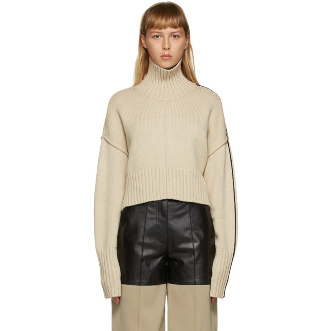 Photo: Peter Do Beige Cropped Oversized Sweater