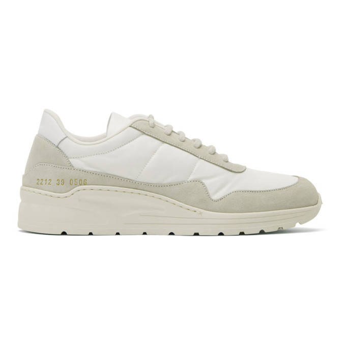 Common Projects White Cross Trainer Sneakers