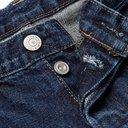 EDWIN - Slim-Fit Distressed Selvedge Denim Jeans - Blue
