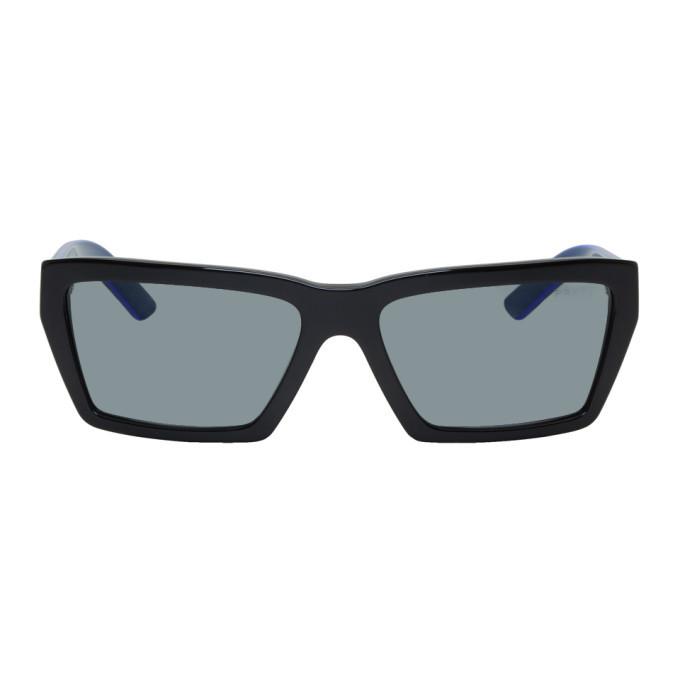 Photo: Prada Black and Blue Rectangular Sunglasses