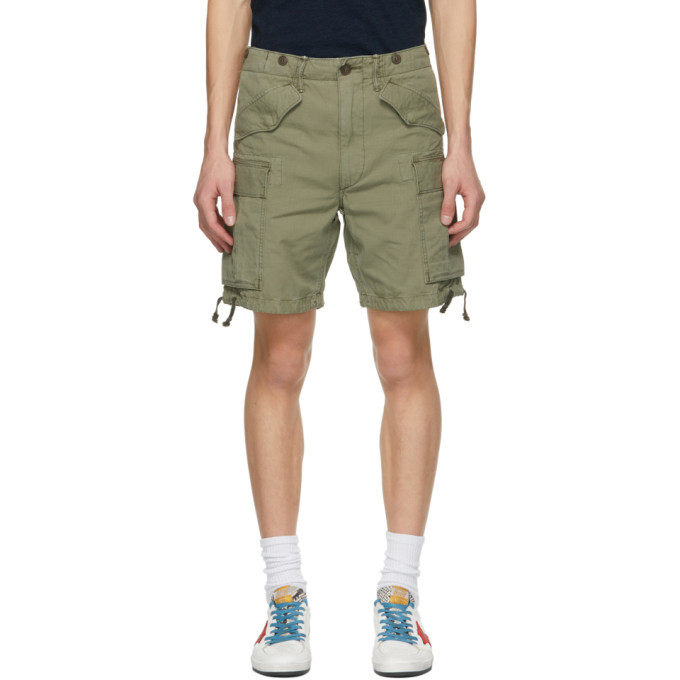Photo: RRL Khaki Regiment Fit Cargo Shorts