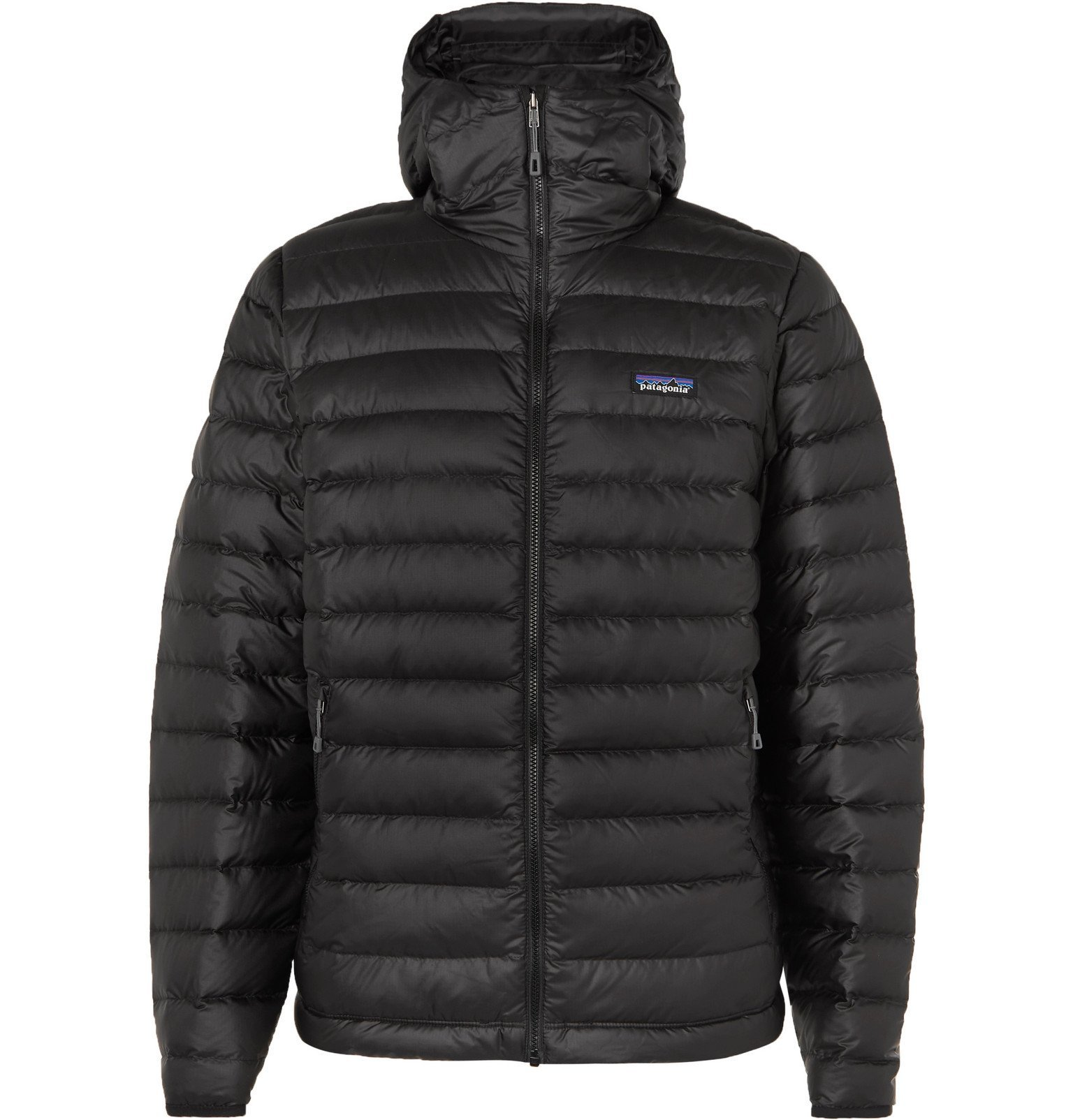 Photo: Patagonia - Quilted Ripstop Hooded Down Jacket - Black