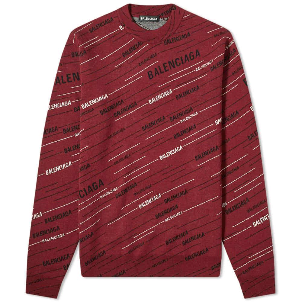 Photo: Balenciaga Multi Logo Knit
