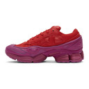 Raf Simons Red and Purple adidas Originals Edition Ozweego Sneakers