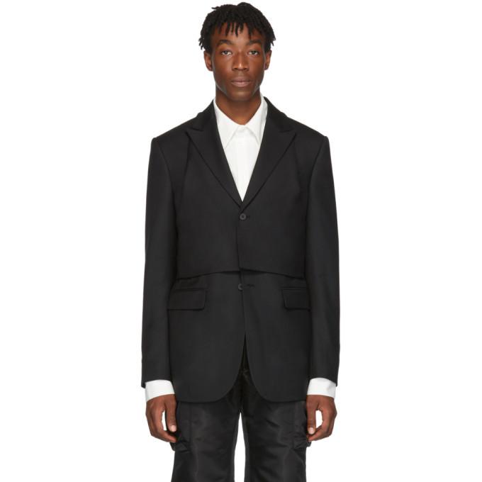 Photo: D.Gnak by Kang.D Black Detachable Vest Blazer