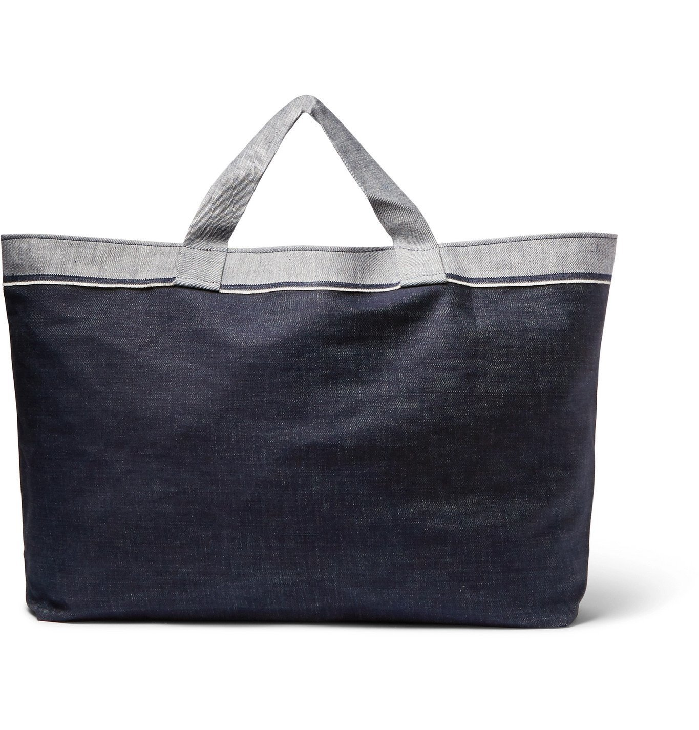 Photo: Cleverly Laundry - Two-Tone Denim Laundry Bag - Blue