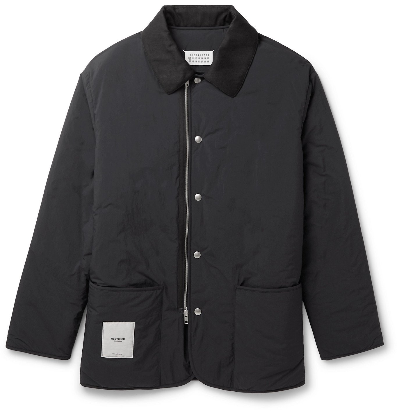 Photo: Maison Margiela - Cotton-Blend Twill-Trimmed Shell Jacket - Black