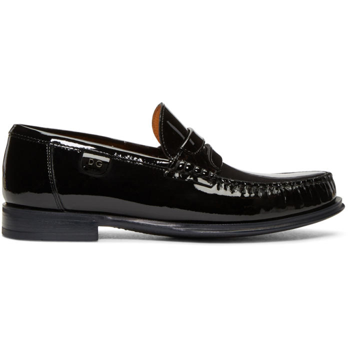 Photo: Dolce and Gabbana Black Patent Loafers