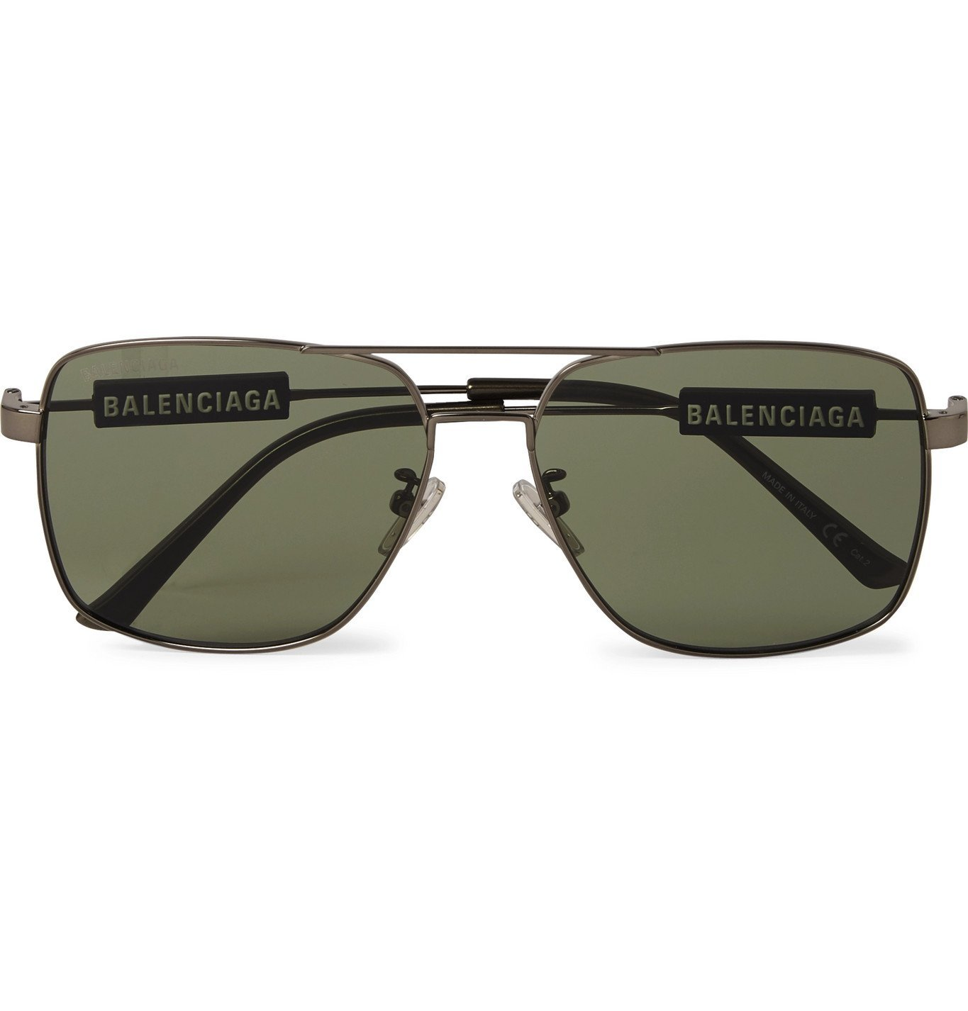 Photo: Balenciaga - Round-Frame Acetate Wraparound Sunglasses - Black