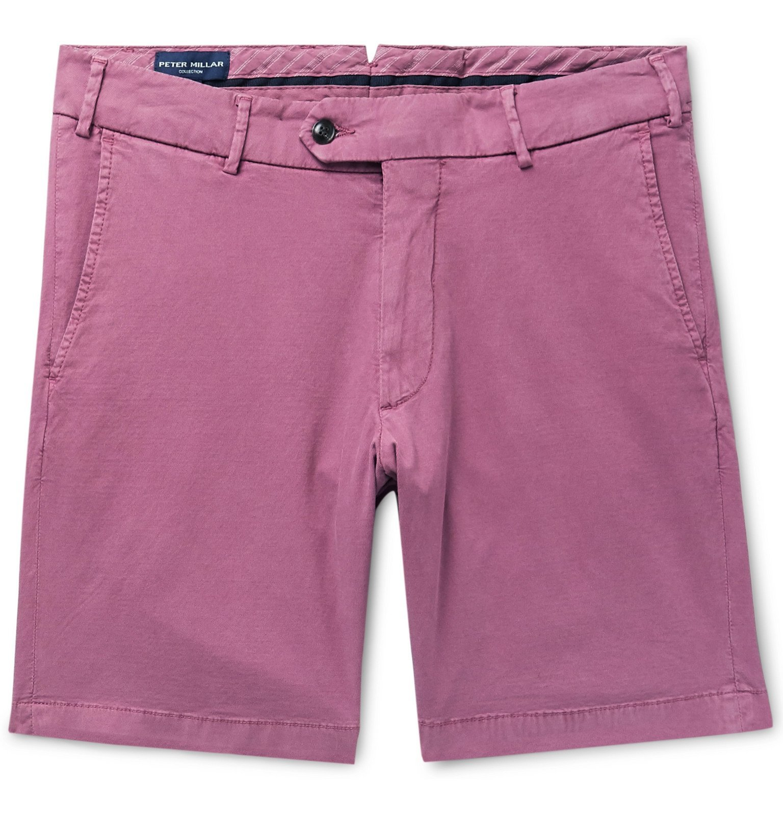 Peter Millar Wayfare Slim Fit Stretch Tencel And Cotton Blend Twill Shorts Pink Peter Millar