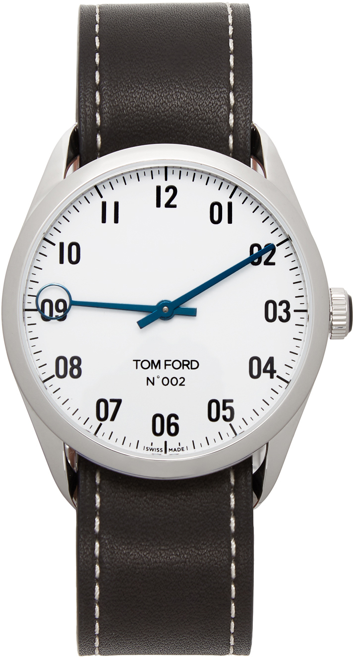 Photo: TOM FORD Black & Silver Leather 002 Watch