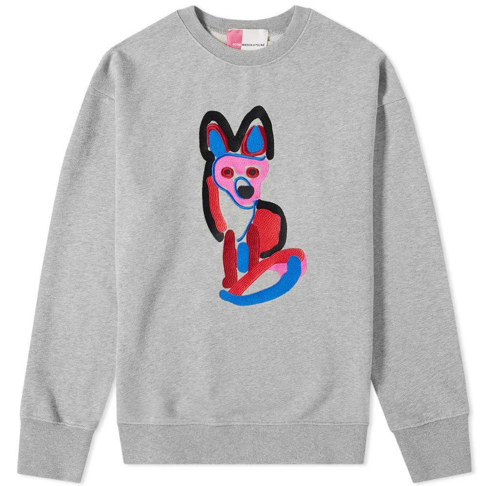 Photo: Maison Kitsuné Acide Fox Embroidered Crew Sweat